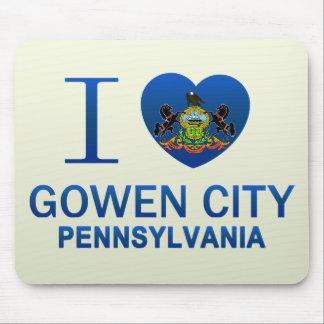 I Love Gowen City, PA Mousepads