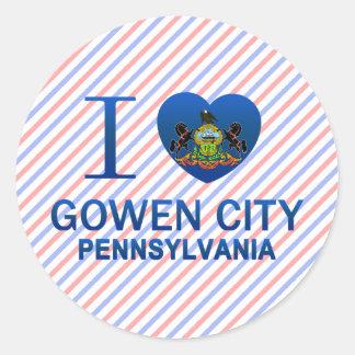 I Love Gowen City, PA Sticker