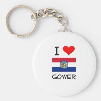 I Love Gower Missouri Key Chains