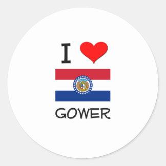 I Love Gower Missouri Classic Round Sticker