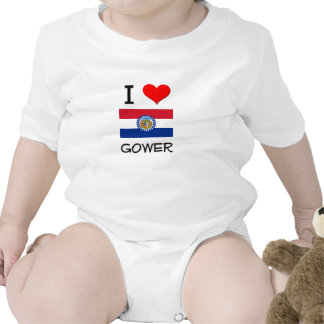 I Love Gower Missouri Baby Bodysuit