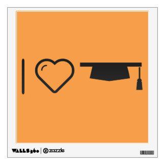 I Love Graduation Costs Wall Sticker