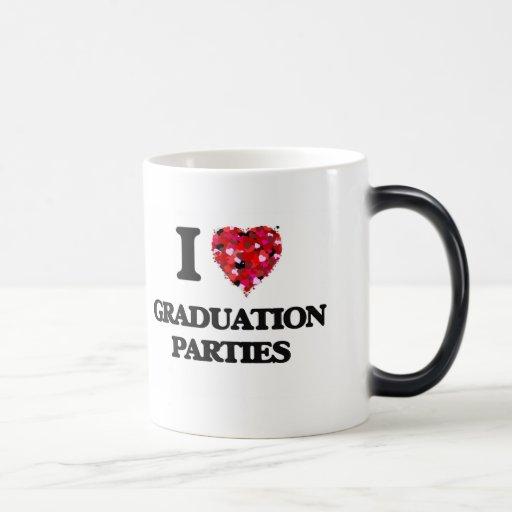 I Love Graduation Parties 11 Oz Magic Heat Color-Changing Coffee Mug