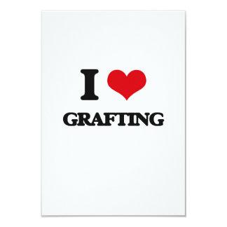 "I love Grafting 3.5"" X 5"" Invitation Card"