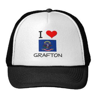I Love Grafton North Dakota Trucker Hat
