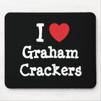 I love Graham Crackers heart T-Shirt Mouse Pad