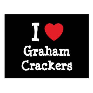 I love Graham Crackers heart T-Shirt Postcard
