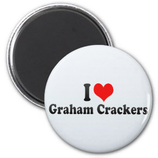 I Love Graham Crackers 2 Inch Round Magnet