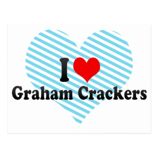 I Love Graham Crackers Postcard