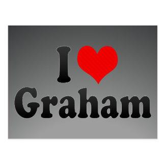 I love Graham Postcard