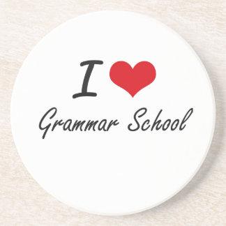 I love Grammar School Drink Coaster