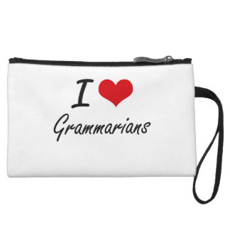 I love Grammarians Wristlet Clutch