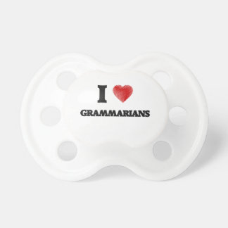 I love Grammarians (Heart made from words) BooginHead Pacifier