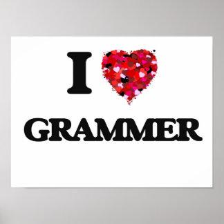 I Love Grammer Poster