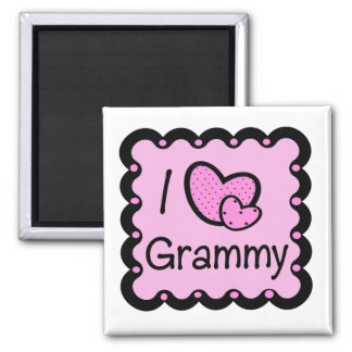 I Love Grammy Cute T-Shirt 2 Inch Square Magnet