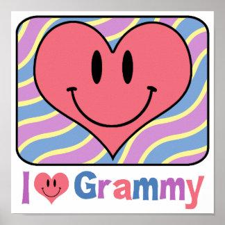 I Love Grammy Poster