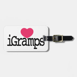 I Love Gramps Luggage Tag