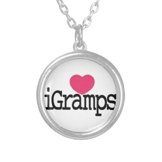 I Love Gramps Silver Plated Necklace