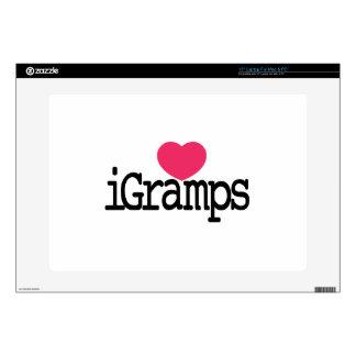 """I Love Gramps Skins For 15"""" Laptops"""