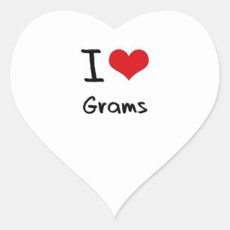 I Love Grams Heart Sticker
