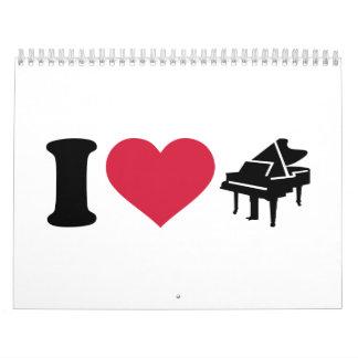 I love grand piano calendar
