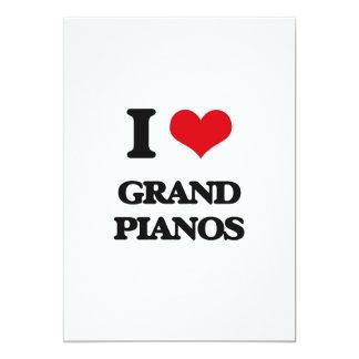 I love Grand Pianos 5x7 Paper Invitation Card