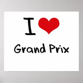 I Love Grand Prix Posters