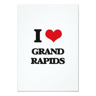 "I love Grand Rapids 3.5"" X 5"" Invitation Card"