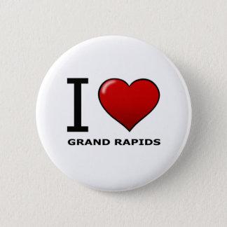 I LOVE GRAND RAPIDS,MI - MICHIGAN BUTTON