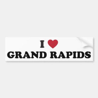I Love Grand Rapids Michigan Car Bumper Sticker