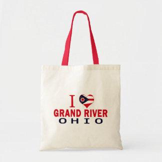 I love Grand River, Ohio Tote Bag