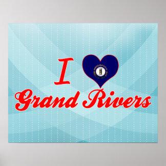 I Love Grand Rivers, Kentucky Posters