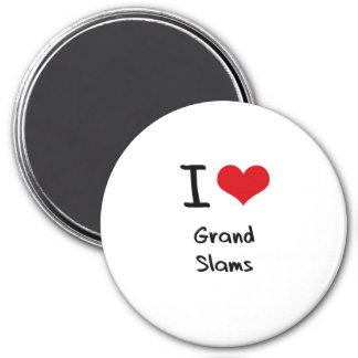 I Love Grand Slams Refrigerator Magnet