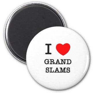 I Love Grand Slams Fridge Magnet