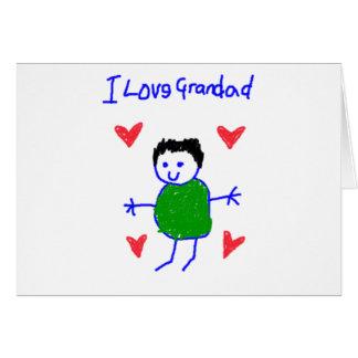 I Love Grandad Greeting Card