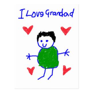 I Love Grandad Postcard