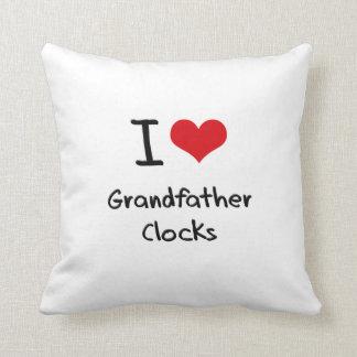 I Love Grandfather Clocks Pillow