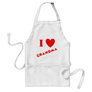 I Love Grandma Adult Apron