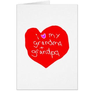 I Love Grandma and Grandpa Card
