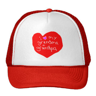 I Love Grandma and Grandpa Mesh Hats