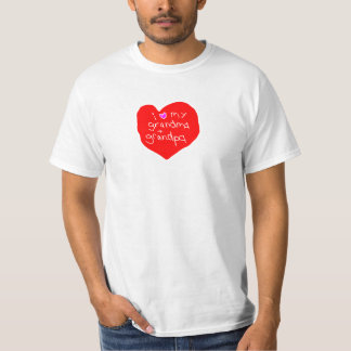 I Love Grandma and Grandpa T Shirt