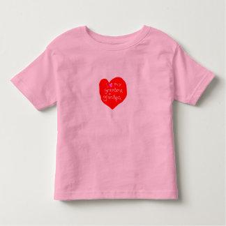 I Love Grandma and Grandpa Toddler T-shirt