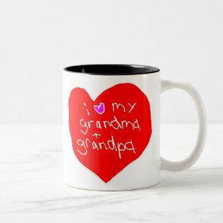 I Love Grandma and Grandpa Two-Tone Coffee Mug