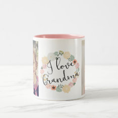 I Love Grandma Custom Photo Mug at Zazzle
