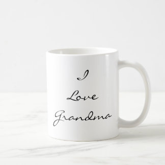 I Love Grandma Customizable Photo Mug