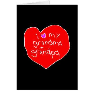 I Love Grandma Grandpa Valentine Card