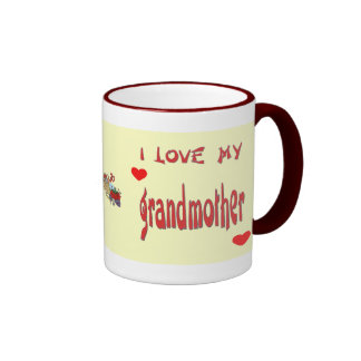 I Love Grandma Ringer Coffee Mug
