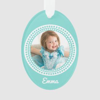 I Love Grandma Oval Keepsake Photo Ornament