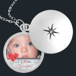 """&quot;I Love Grandma&quot; Photo Locket<br><div class=""""desc"""">&quot;I Love Grandma&quot; Photo Locket makes sentimental gifts that will be treasured for years to come. Round and square necklace styles are also available. Customize with your special photo and text,  as desired.</div>"""