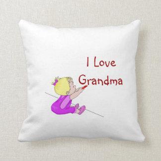 I Love Grandma Pillows
